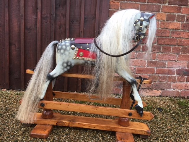 Wooden antique ayres rocking horse