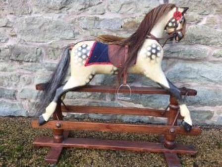Lines antique rocking horse