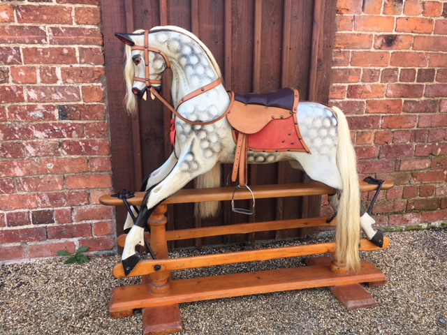extra carved antique lines rocking horse