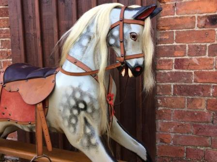extra carved Lines rocking horse