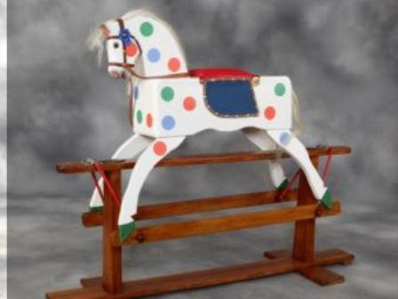 Polychrome collinsons rocking horse