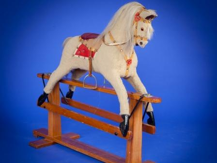 Plush collinsons rocking horse