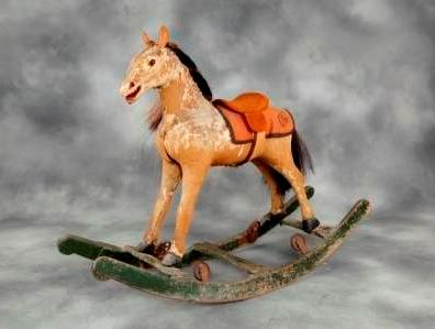 German bow rocking horse