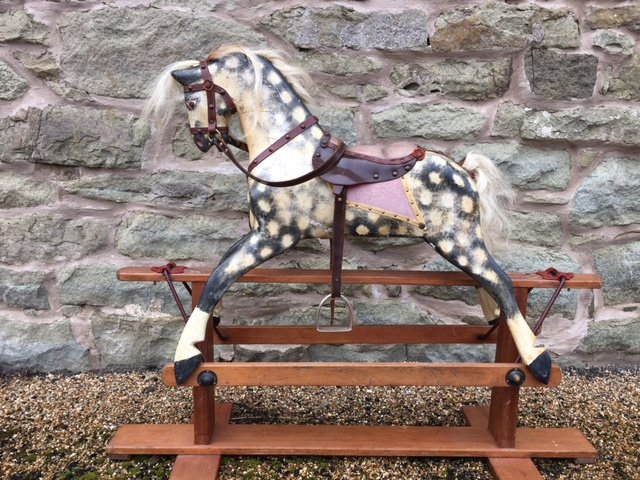 old vintage collinsons rocking horse