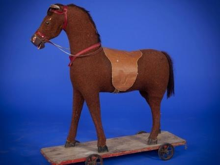 plush covered toy horse