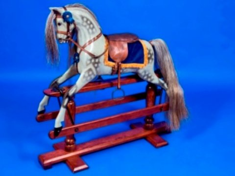 old antique rocking horse