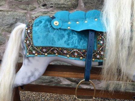 Arabian charger rocking horse