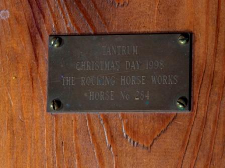 rocking horse name plate