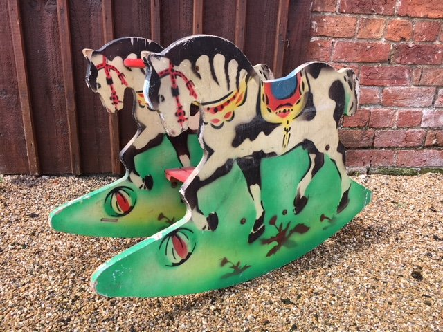 german painted rocking horse