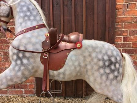 Victorian bow rocking horse