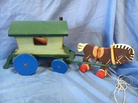 Lines antique toy wagon