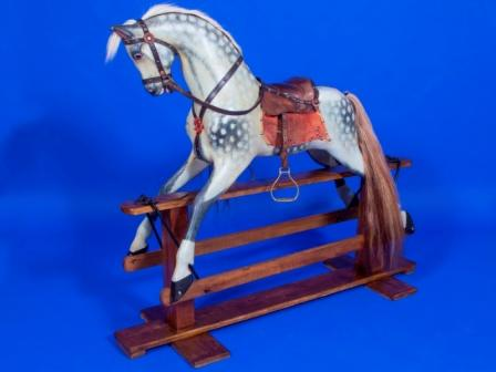 Baby carriages antique rocking horse