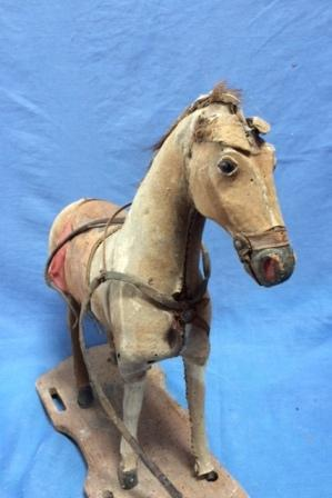 antique toy pull along horse