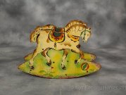 Antique shoofly rocking horse