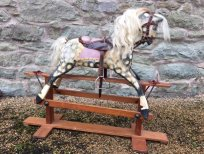 Restored Collinsons rocking horse for sale